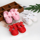 BS05 Baby shoes soft sole 0-12 months daughter net shoe single bow baby princess walking shoes