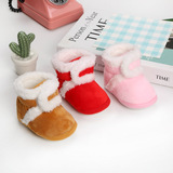 BS03 Baby shoes 0-15 months soft soled toddler shoe don't fall plush and thickened cotton shoes